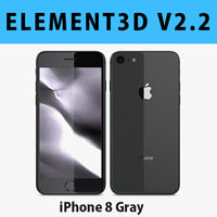 E3D - Apple iPhone 8 Space Gray