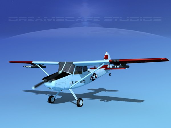 3D propeller cessna o-1e bird dog