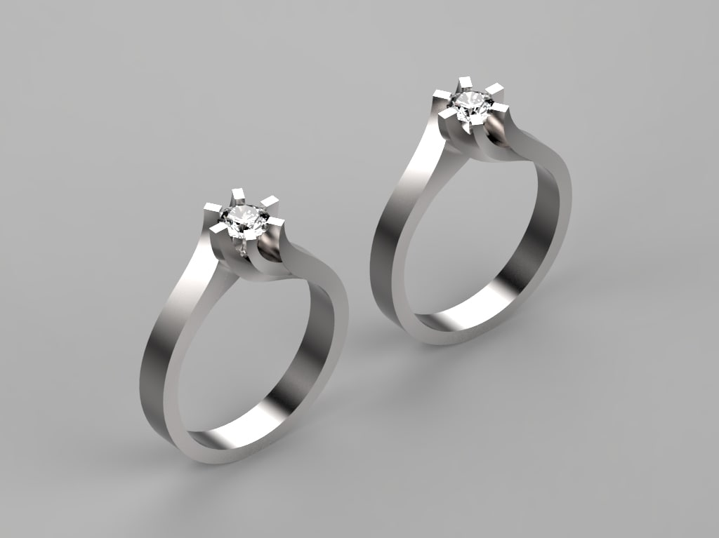 engagement ring 3D