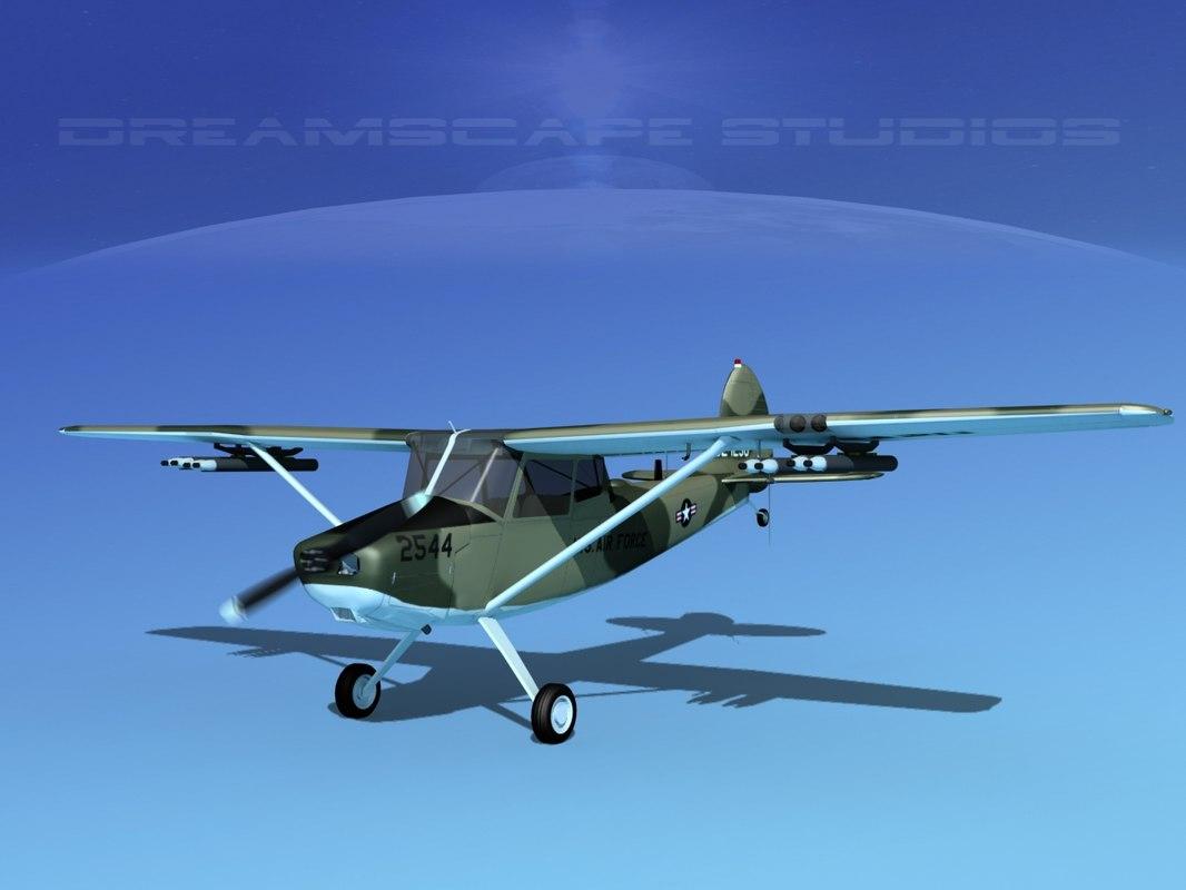 propeller cessna o-1e bird dog model