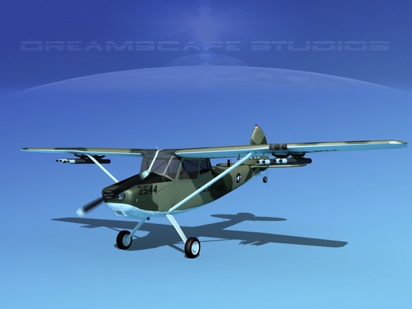 propeller cessna o-1e bird dog model