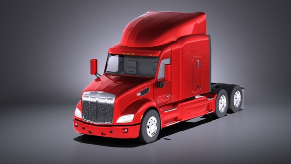 579 semi truck 3D model