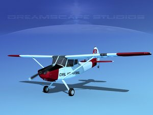 3D model propeller cessna o-1e civil