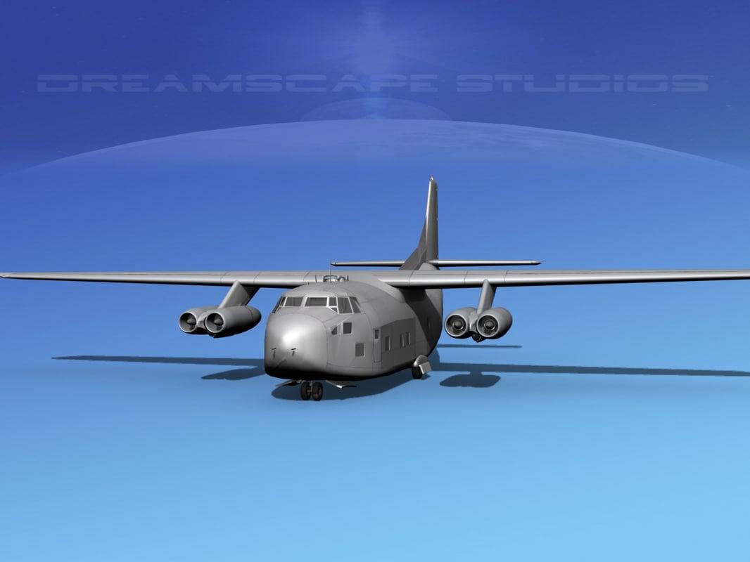 3D aircraft military fairchild c-123a model
