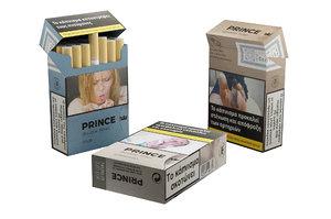 3D prince cigarettes pack model