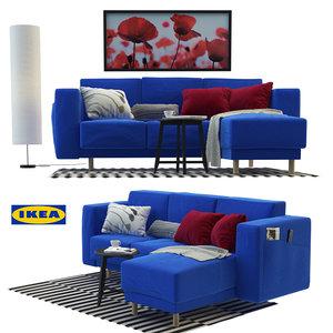 3D model ikea furniture sofa