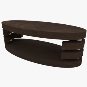 coffee table oval 3D model