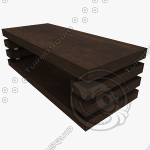 coffee table layers 3D model