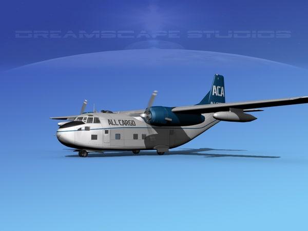 aircraft military cargo fairchild 3D model