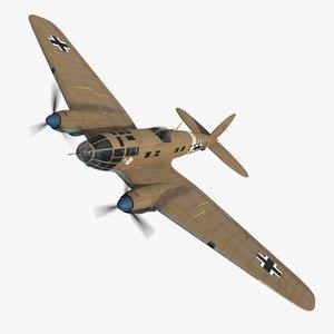 3D model heinkel 111 bomber s7