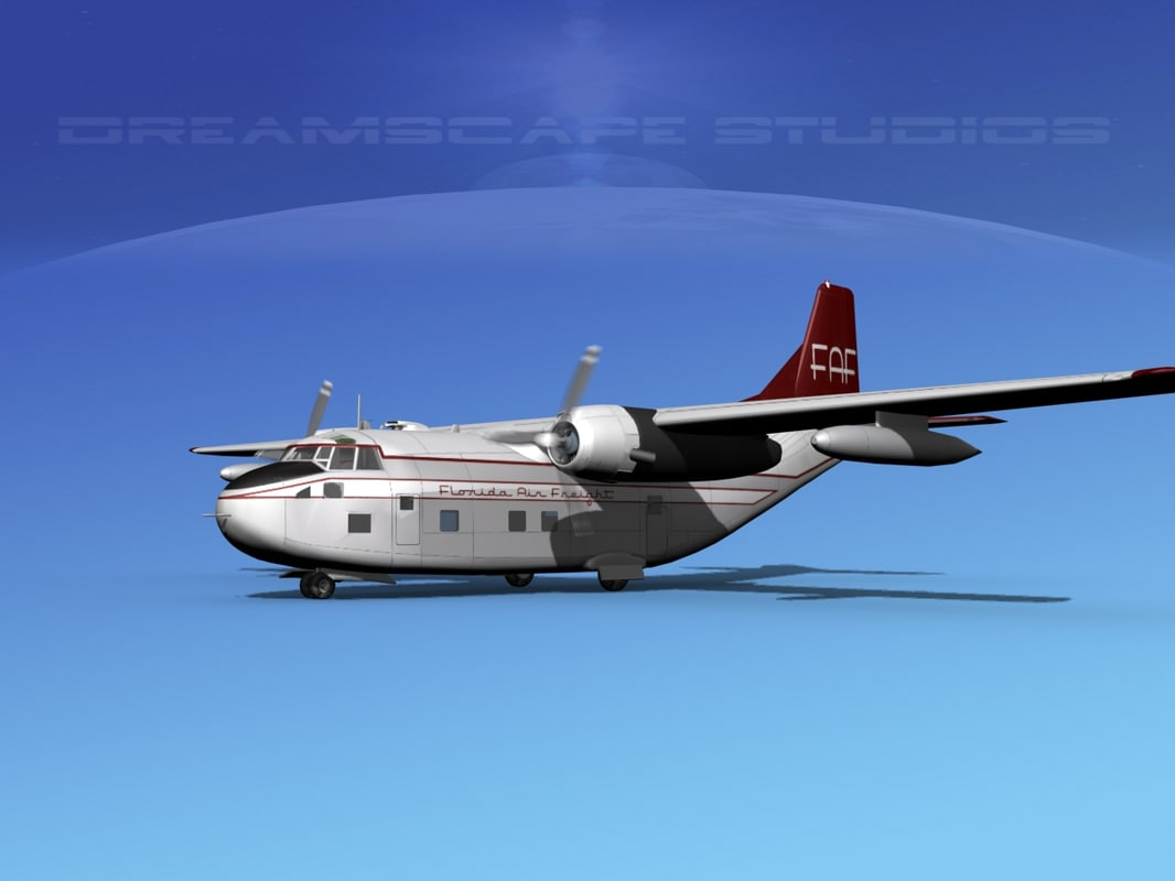 aircraft military fairchild air force 3D model