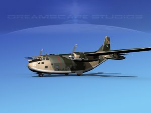aircraft military fairchild transport 3D