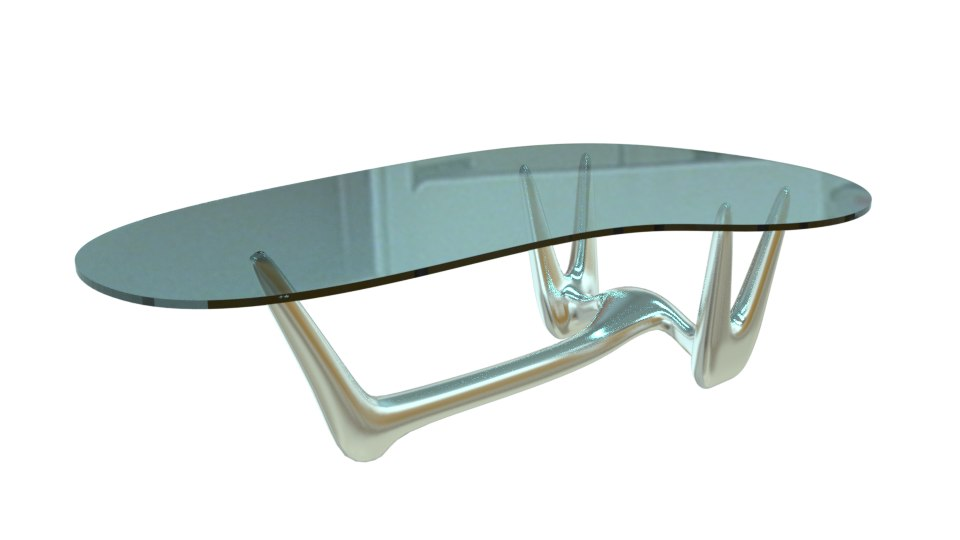 table glass coffee 3D model