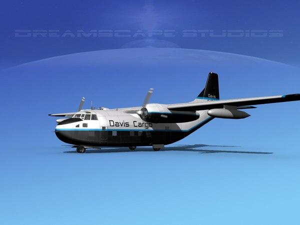 3D aircraft military cargo fairchild model