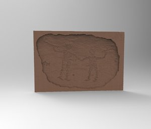 petroglyph archeological caveman 3D model
