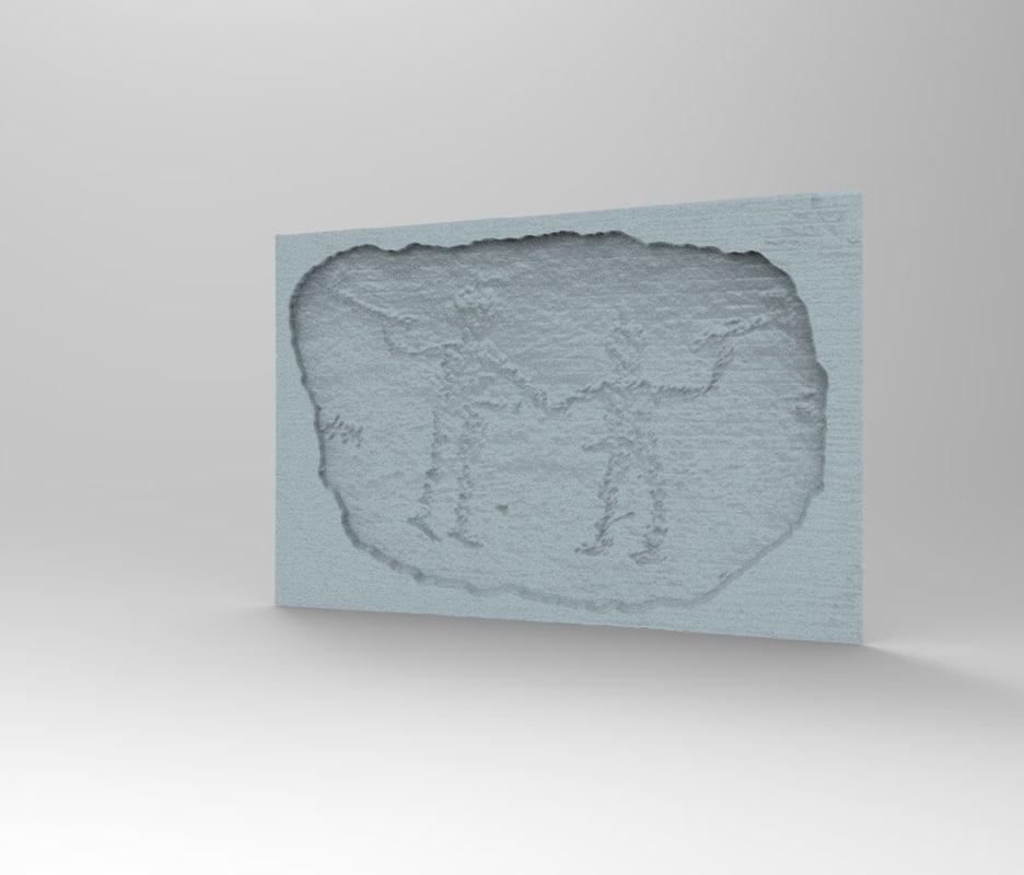 petroglyph archeological caveman 3D model