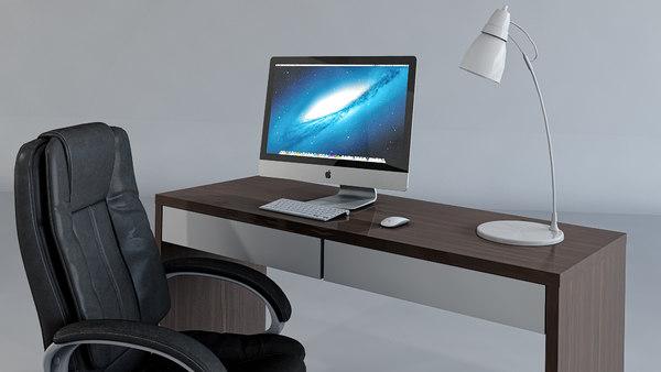 3D work chair desk