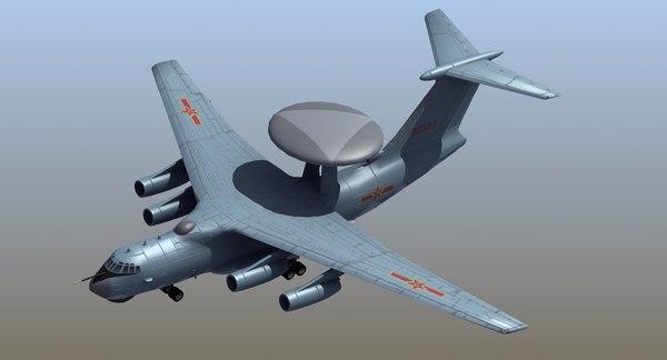 Kj-2000 awacs model - TurboSquid 1202534