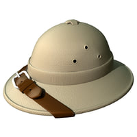 cartoon Safari hat (Pith Helmet)