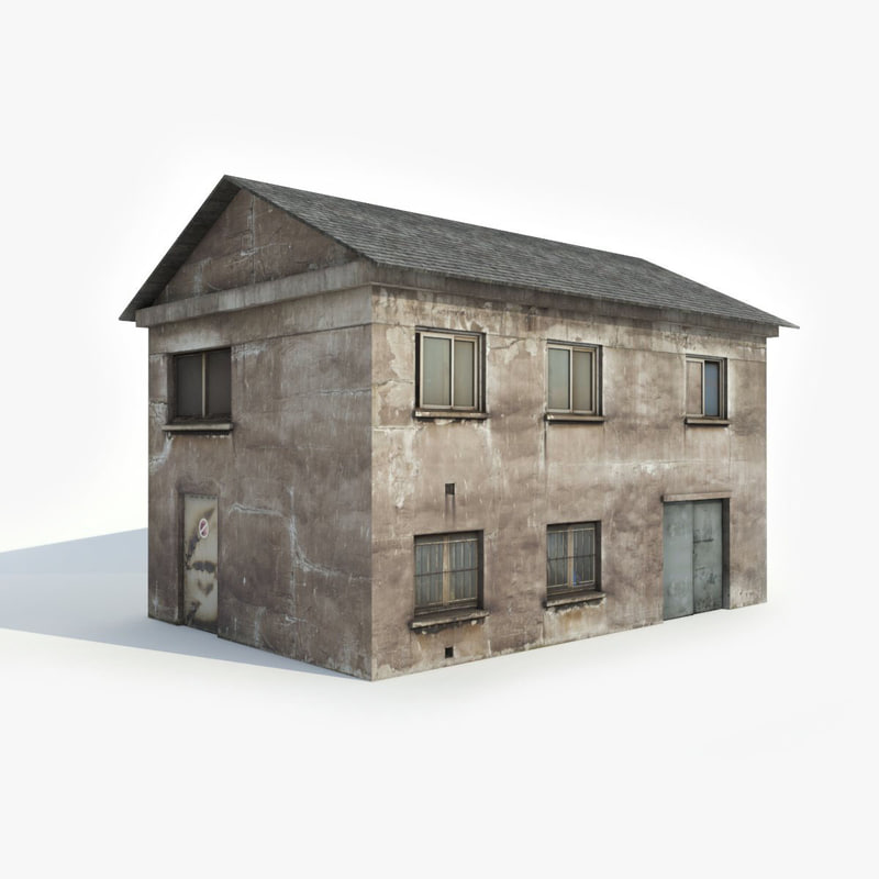 Old apartment house model turbosquid 1202554 for Apartment model house