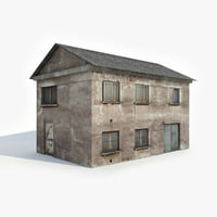 old apartment house model