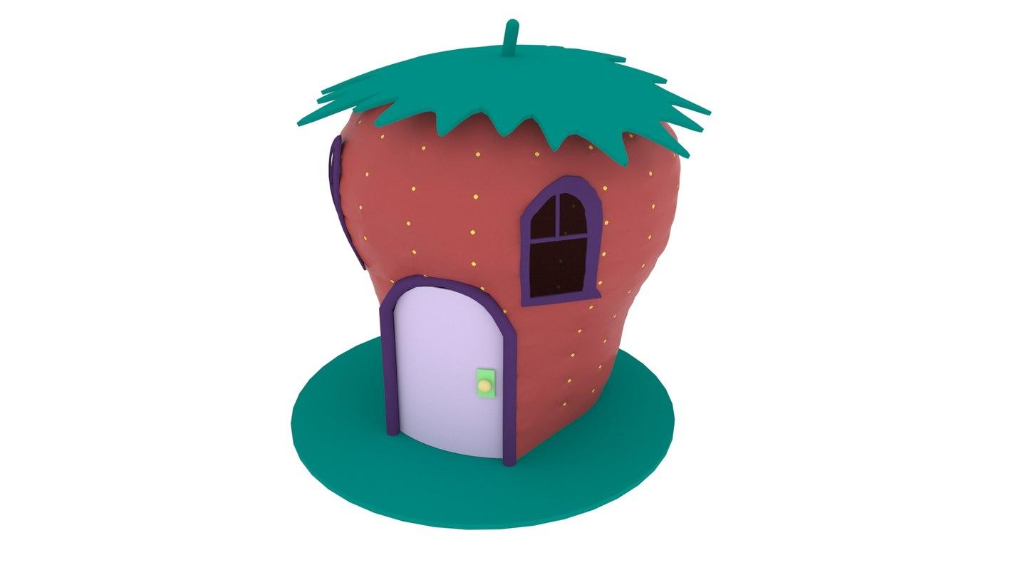 3D strawberry house model