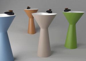 3D gessi cono washbasins
