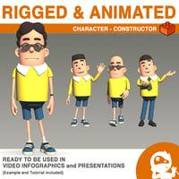 3D model character - constructor