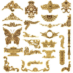 cartouches set 3D model