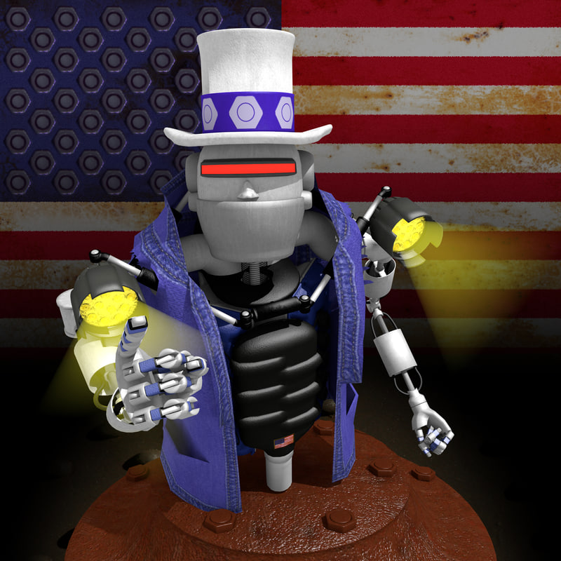3D robot want model