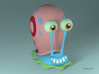 3D character gary snail