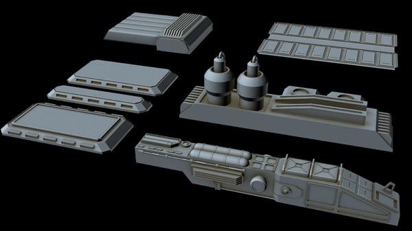 starship greeble 3 3D model