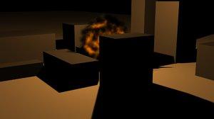 explosion-fire-bomb 3D model