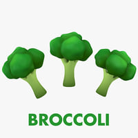 3D cartoon broccoli