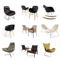 3D rocker chair armchair