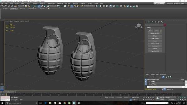 mk2 grenade model