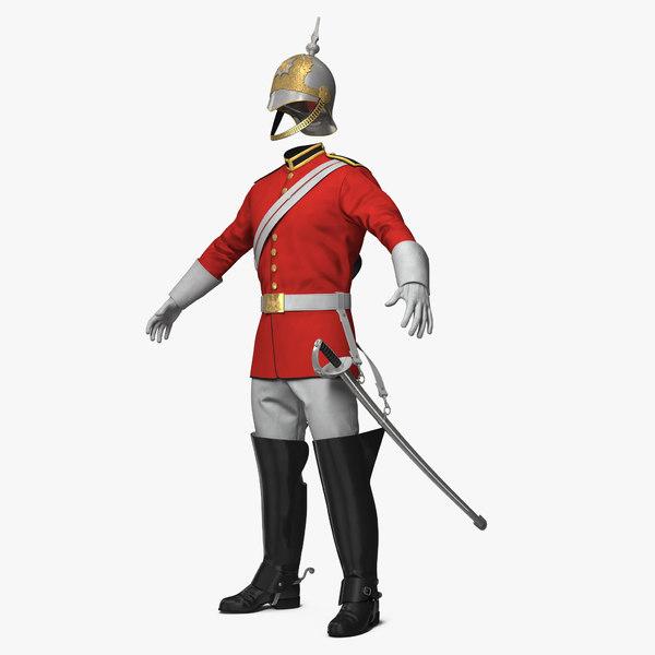 british cavalry royal life 3D