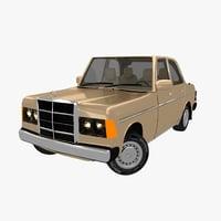 3D model mercedes benz w123