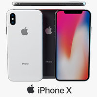 3D iphone x gray