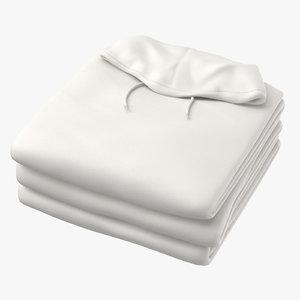 male standard hoodie folded 3D
