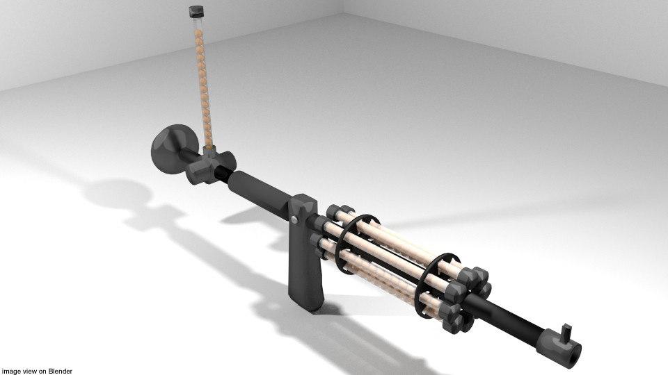 blowgun toy model
