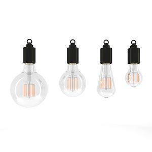 3D model led bulb