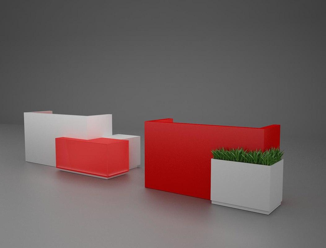 reseption desks 3D model