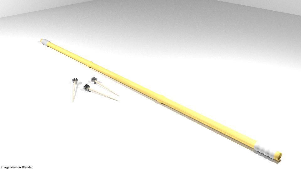 3D bamboo blowgun