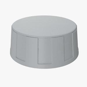 3D knob 02 14 model