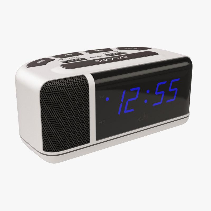alarm clock bedside 3D model