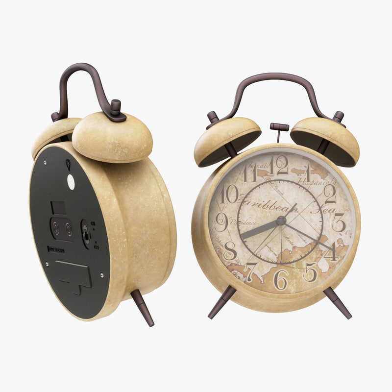 3D alarm clock twin model