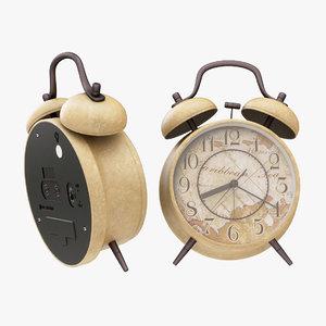 3D alarm clock twin model