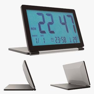 clock digital desk 3D model