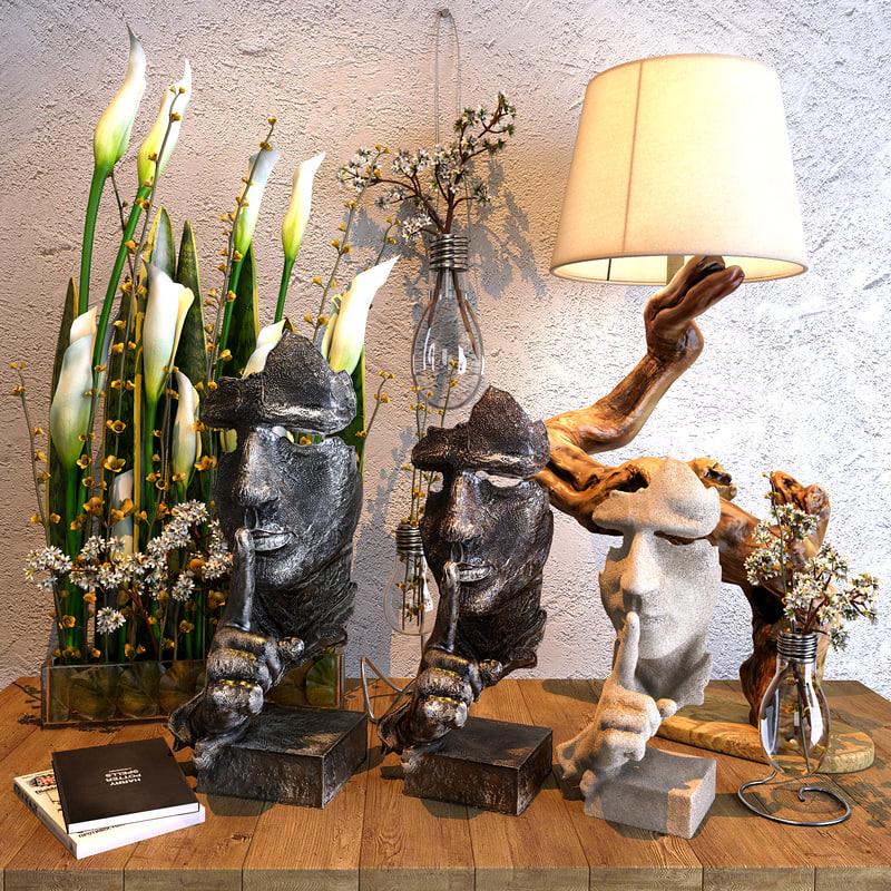 decor set 3D model